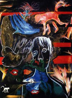"""Evol for the Missing"", 1996. (A Soulful Art Legacy: 25 David Bowie Paintings)"