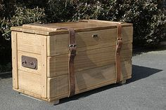 Solid Oak Vintage Style Travel Trunk