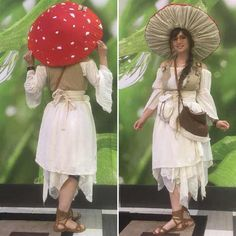 Cool Costumes, Cosplay Costumes, Halloween Costumes, Fairy Costume Kids, Costume Ideas, Villain Costumes, Halloween Fairy, Mushroom Costume, Mushroom Hat