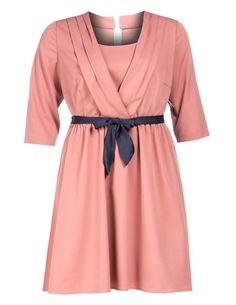 MANON BAPTISTE - Layer look dress with belt - navabi