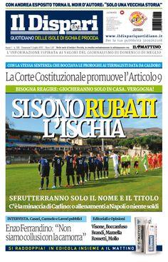 la copertina del 05 luglio 2015 #ischia #ildispari