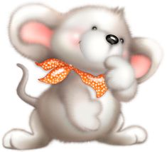 Cute White Mouse Clipart