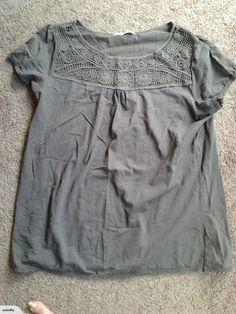maya crochet trim t shirt size for sale on Trade Me, New Zealand's auction and classifieds website Crochet Trim, Maya, Ruffle Blouse, T Shirt, Tops, Women, Fashion, Supreme T Shirt, Moda