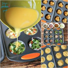 Brunch Recipes Great idea for a brunch or a hearty breakfast and it& totally fast . Brunch Recipes, Breakfast Recipes, Healthy Snacks, Healthy Recipes, Good Food, Yummy Food, Breakfast Bites, Eat Breakfast, Snacks Für Party