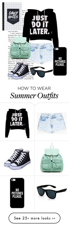"""Teen Outfit"" by erincheffers on Polyvore featuring MANGO, T-shirt & Jeans and Casetify"