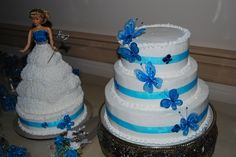 cake doll quinceanera cakes | butterfly quinceanera — La Quinceanera