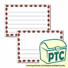 Super Bowl Resources - Primary Treasure Chest Teaching Activities, Teaching Resources, Teaching Ideas, Ourselves Topic, Crafts For Kids, Arts And Crafts, Page Borders, Pre Kindergarten, Role Play
