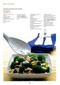 Revista bimby pt-s01-0003 - julho 2008 Vegetarian Recipes, Healthy Recipes, Summer Time, Mashed Potatoes, Healthy Food, Food And Drink, Low Carb, Meals, Dinner