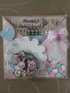 Baby kaart yvonne creations