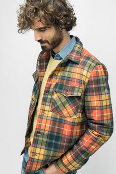 PARKA RYAN Serge Blanco  Automne / hiver 2017 Parka, Button Down Shirt, Men Casual, Plaid, Coat, Mens Tops, Jackets, Shirts, Women