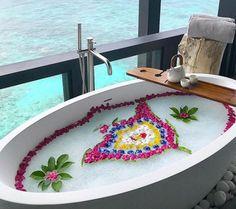 Kudadoo multi-colour flower with petals Maldives, Beach Mat, Tub, Outdoor Blanket, Colour, Flowers, The Maldives, Color, Bath Tub