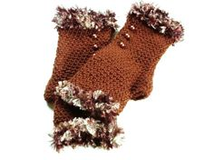 Hey, I found this really awesome Etsy listing at https://www.etsy.com/listing/167681730/brown-fingerless-gloves-crochet-wrist