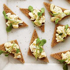 Smoked Egg Salad Toasts. WHA?!?! Geoff and I are going to have to try making Smoked Deviled Eggs at our next Smokefest!