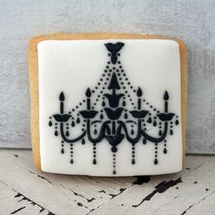Chandelier Cookie~                            by Icing Bliss, via Flickr, black and white