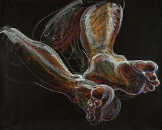 Fred Hatt - Feet- aquarelle watercolor crayon