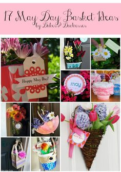 My kids love to surprise the neighbors with a May day basket.  So FUN 17 may day basket ideas