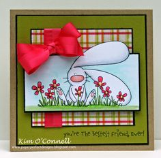 Paper Perfect Designs by Kim O'Connell - light fuschia satin grosgrain double band ribbon