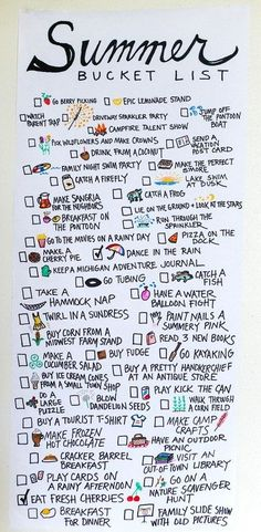 Kick-off to Summer! Summer Bucket List and Summer Anthems Playlist Kick-off to Summer! Summer Bucket List and Summer Anthems Playlist – Enjoying the Small Things (Diy Photo Journal) Summer Fun List, Summer Bucket, Summer Time, Summer Ideas, Summer Travel, Fun Ideas, Summer Goals, Enjoy Summer, Play Ideas