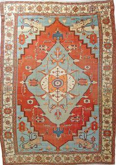 "Persian Heriz Serapi rug, 13'6"" x 9'6"", ca 1890, Farnham Antique Carpets"