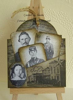Civil War themed Tag...using Oxford Impression stamps.