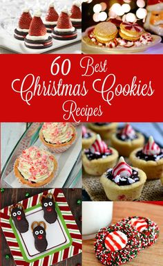 Get to holiday baking with these MUST try Best Christmas Cookies recipes featuring chocolate, peppermint, cinnamon and so many more festive holiday flavors! Best EVER Christmas Cookies recipes are perfect for an exchange with everything from easy cook Christmas Cookie Exchange, Best Christmas Cookies, Christmas Snacks, Xmas Cookies, Christmas Cooking, Noel Christmas, Christmas Candy, Christmas Appetizers, Easy Holiday Cookies