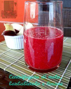 centrifugato di mela, barbabietola e limone