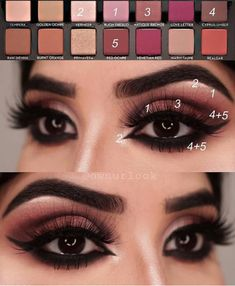 Make Up - Anastasia Beverlyhills eyeshadow palette makeup tutorial Eye Makeup Steps, Natural Eye Makeup, Smokey Eye Makeup, Eyeshadow Makeup, Eyeshadow Palette, Eyeshadows, Eyeshadow Ideas, Eyebrow Makeup, Makeup Brushes