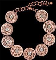 3D Belt Co Silver Strike Copper Shotgun Shell Bracelet, LB14062101C