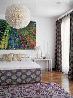 Headboard matching curtains