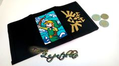 Legend of Zelda custom handpainted wallet canvas personalized by DecoroZapatillas on Etsy