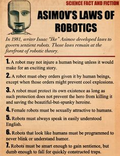 Real #asimov robot laws used in movies