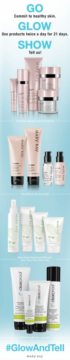 Beautiful skin starts here. Repin if you're ready for the Glow and Tell Challenge! | Mary Kay