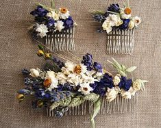 Custom Dried Flower Comb for Brides, Bridesmaids, Flower Girls, Flower Fairies and those that love to wear Flowers in their hair – Hochzeit meiner Träume Wedding Hair Flowers, Hair Comb Wedding, Bridesmaid Flowers, Brides And Bridesmaids, Flowers In Hair, Dried Flowers, Amazing Flowers, Pretty Flowers, Corona Floral