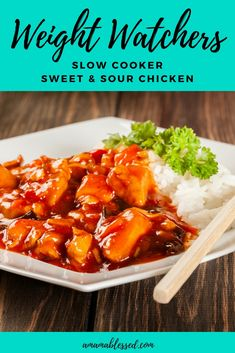 Are you searching for delicious Weight Watchers Freestyle recipes with Smartpoints? This Weight Watchers slow cooker sweet and sour chicken is easy, kid friendly, healthy, with points and is sure to please your family. Good for dinner or lunch, as a main dish or a side dish, this recipe with points will be sure to cut your cravings for take out. Made in the crock pot, slow cooker or instant pot, this recipe is simple and easy to follow.
