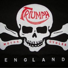 Triumph Motorcycle Skull T Shirt / Black / American Apparel Brand
