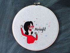 Bob's Burgers | Linda Belcher Quote | Custom Order | 8 Inch Hoop Art | Fandom Home Decor