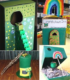 Using bits and pieces around the house set a trap to tempt the wee one next week. When he grabs the treasure, snap! Down comes the lid. Don't let him out until he tells you where his pot of gold is! How to catch a leprechaun – what you need: a shoe or cereal box, [&hellip