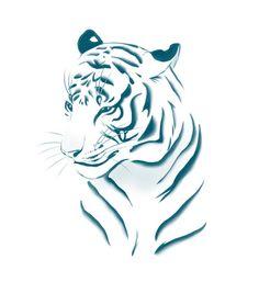 Tiger Art Print by Katikut - X-Small Tiger Drawing, Tiger Art, Pet Tiger, Tribal Tiger, Tiger Tattoo Design, Tiger Design, Tribal Dragon Tattoos, Geometric Tattoo Arm, Small Tattoos For Guys