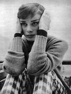 Audrey Hepburn in thought