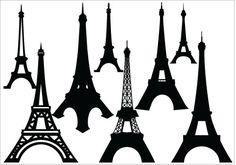 Eiffel Tower Silhouette Vector - silhouettevector.net