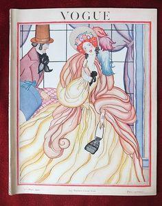 ⍌ Vintage Vogue ⍌ art and illustration for vogue magazine covers - Helen Dryden Vogue Fr. 1922