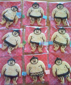 sumo wrestler cookies