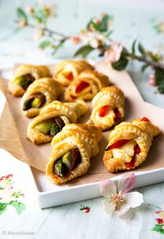 Finnish Recipes, Savoury Baking, Halloumi, Sweet And Spicy, Bite Size, Appetizers For Party, Finger Foods, Food Styling, Food And Drink