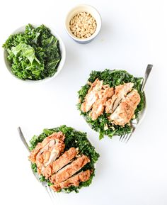 kale salad...with fried chicken