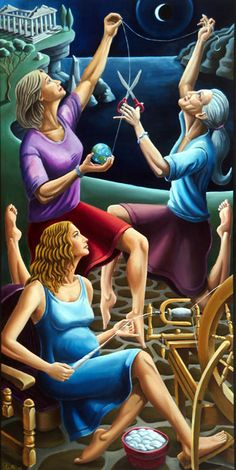 """""""The Three Fates"""" by David Spear Alleyway Arts 