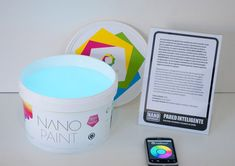 WallSmart Nano Paint paint your walls then push the button on the remote to change its color