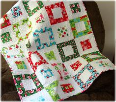 Jingle Holiday Baby Quilt by CarleneWestberg on Etsy, $140.00