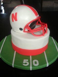 Nebraska Huskers Groom's Cake By SweetTreatsbyJess on CakeCentral.com