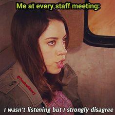 """Staff meeting vibes. #justno"""