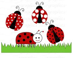 lady bugs | Ladybug Clip Art Red Ladybug Digital Clip Art, Ladybug Backgrounds